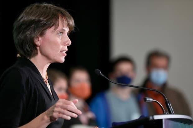 B.C. Green Party Leader Sonia Furstenau says full regulation of counselling, therapy and social work would help create a 'comprehensive system of mental health care' in the province. (Michael McArthur/CBC - image credit)