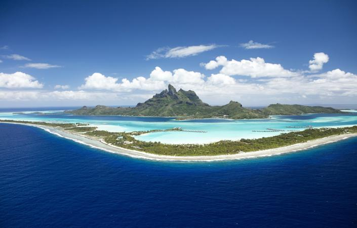 The Conrad Bora Bora Nui resort is undergoing a makeover, which includes these overwater bungalows.