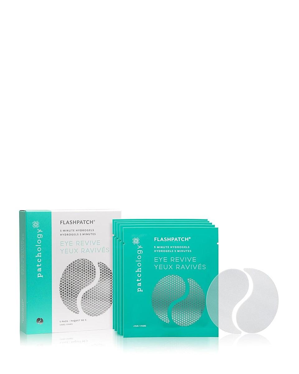 <p>You're a busy person who has important things to do, so you can't always wait around for 15 or 30 minutes to let your patch do its thing. Enter the <span>Patchology Patchology Eye Revive FlashPatch 5 Minute Hydrogels</span> ($35), which contain a catch-all mix of collagen and caffeine. So whether your target issue is antiaging, tiredness, red areas, puffiness, or all of the above, these will kill it fast.</p>