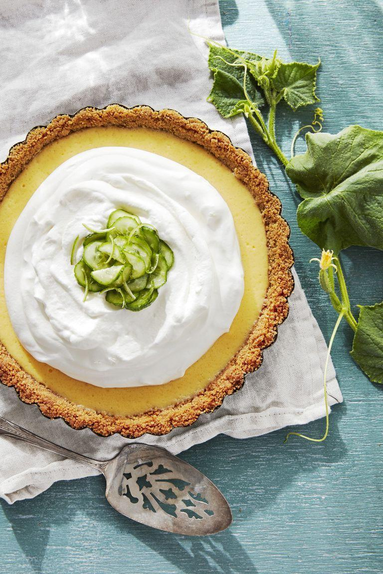 "<p>Put a little summertime into your Easter meal by making this delicious key lime pie with a twist.</p><p><strong><a href=""https://www.countryliving.com/food-drinks/a28608916/cucumber-key-lime-pie-recipe/"" rel=""nofollow noopener"" target=""_blank"" data-ylk=""slk:Get the recipe"" class=""link rapid-noclick-resp"">Get the recipe</a>.</strong></p><p><strong><a class=""link rapid-noclick-resp"" href=""https://www.amazon.com/Pyrex-Glass-Plate-9-5-Inch-2-Pack/dp/B00LGLHZNM/?tag=syn-yahoo-20&ascsubtag=%5Bartid%7C10050.g.738%5Bsrc%7Cyahoo-us"" rel=""nofollow noopener"" target=""_blank"" data-ylk=""slk:SHOP PIE PLATES"">SHOP PIE PLATES</a><br></strong></p>"