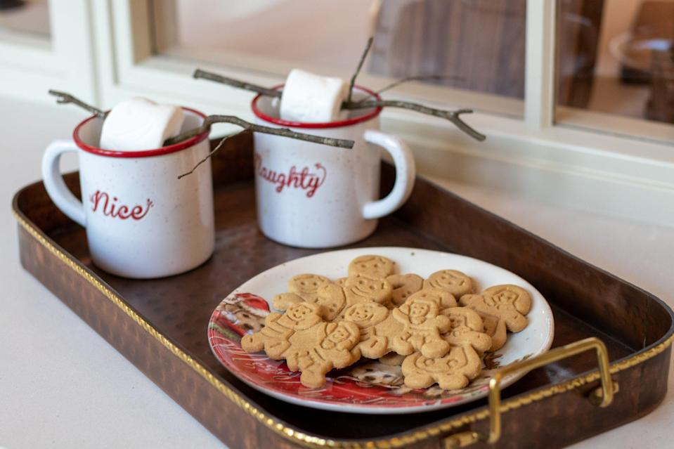 """<p>When company comes over, serve holiday treats with festive accessories from the <a href=""""https://www.dillards.com/brand/Southern+Living/home-holiday-shop"""" rel=""""nofollow noopener"""" target=""""_blank"""" data-ylk=""""slk:Southern Living collection for Dillard's."""" class=""""link rapid-noclick-resp""""><em>Southern Living</em> collection for Dillard's.</a> </p>"""