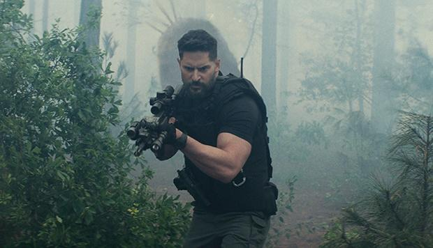 Joe Manganiello in a scene from the movie Rampage.