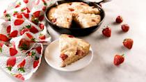 "<p>This fluffy, moist cake will be gone in minutes.</p><p>Get the recipe from <a href=""https://www.delish.com/cooking/recipe-ideas/a27103689/strawberry-cheesecake-skillet-cake-recipe/"" rel=""nofollow noopener"" target=""_blank"" data-ylk=""slk:Delish"" class=""link rapid-noclick-resp"">Delish</a>.</p>"