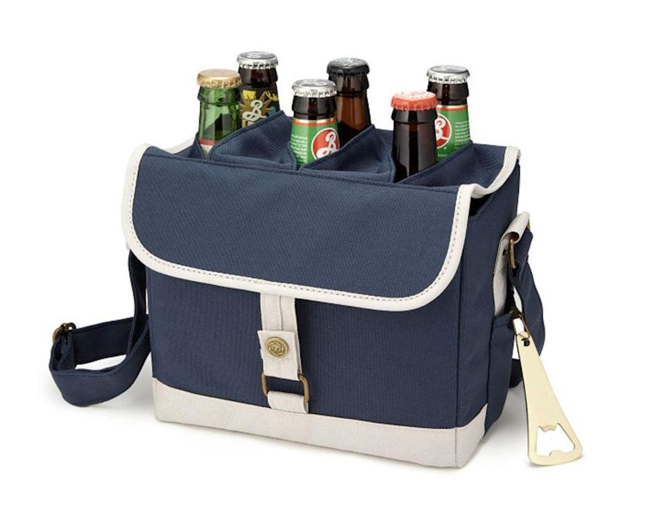 <p>We approve of this stylish <span>Beer Caddy with Bottle Opener</span> ($30).</p>