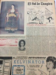 Image of a Spanish-language newspaper with Contrera's byline