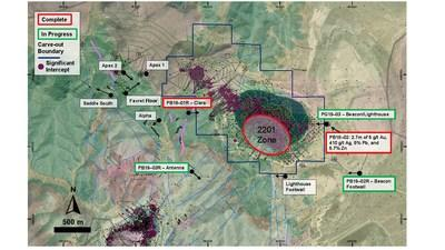Figure 1: Planview of targets at McCoy-Cove and Cove Carve-Out Properties (CNW Group/Premier Gold Mines Limited)