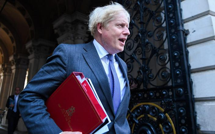 The Prime Minister leaves a Cabinet meeting on Tuesday - Chris J. Ratcliffe/Bloomberg