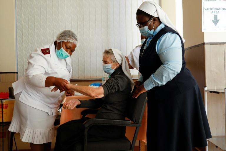 Just one percent of the South African population of 59 million has been vaccinated -- most of them health workers and people aged 60 or above