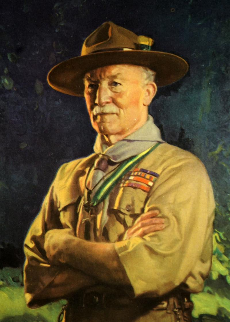 Portrait of Robert Baden-Powell, 1st Baron Baden-Powell (1857-1941) a British Army officer, writer, author of Scouting for Boys. Dated 20th century. (Photo by: Universal History Archive/Universal Images Group via Getty Images)