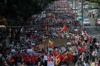 People are still protesting against Myanmar's junta, but in nothing like the numbers seen in the early weeks after the coup