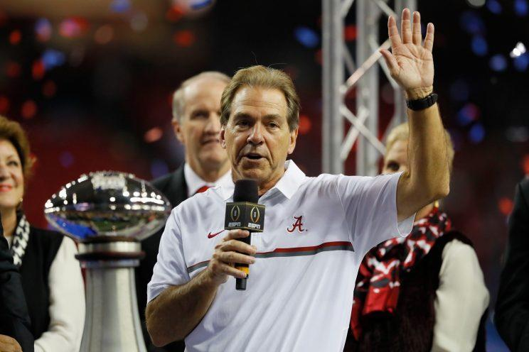 Would you support a college football schedule where Power Five programs only played each other? (Getty)