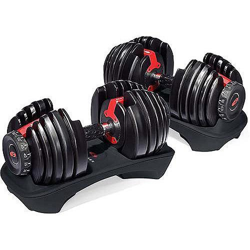 """<p>There's a reason this pair of space-saving dumbbells have a 4.8-star rating on Walmart, and it's totally worth the splurge. With a simple turn of a dial, you can go from 5 to 52 lbs. and one reviewer points out, """"I also like that it includes mid-weight selections that are normally not available in dumbbells."""" The weight-training options here are seemingly endless!<br><strong><a rel=""""nofollow noopener"""" href=""""https://fave.co/2SATYWH"""" target=""""_blank"""" data-ylk=""""slk:Shop It"""" class=""""link rapid-noclick-resp"""">Shop It</a>:</strong> $239, <a rel=""""nofollow noopener"""" href=""""https://fave.co/2SATYWH"""" target=""""_blank"""" data-ylk=""""slk:walmart.com"""" class=""""link rapid-noclick-resp"""">walmart.com</a> </p>"""