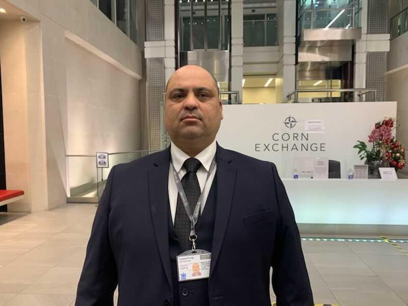 Youssef El-Hajji, a security supervisor at the Corn Exchange building in central London. Photo: SmartSec