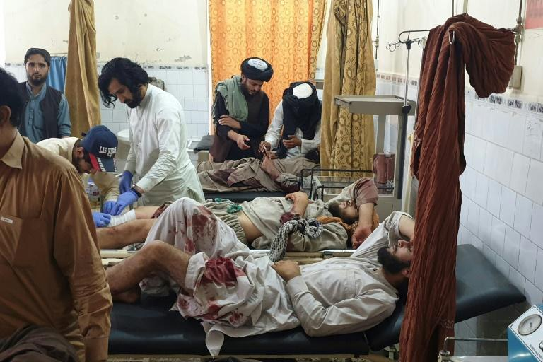 Wounded fighters were being treated at a Pakistan hospital near the border