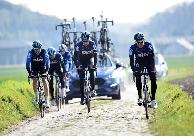 Horrible, bumpy and brutal, Sky try out the Roubaix cobbles (AFP Photo/FRANCOIS LO PRESTI)