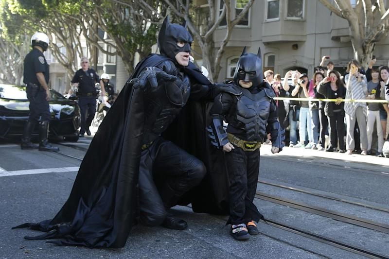 Go Batkid: Miles, five, takes to the streets with adult Batman