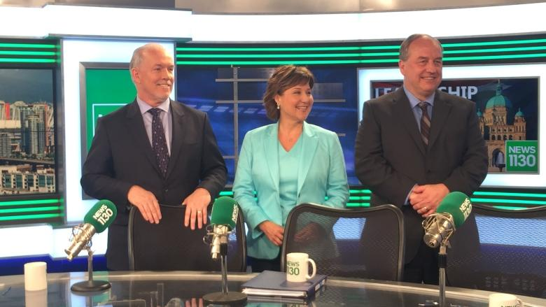 Clark, Horgan spar in first provincial election debate