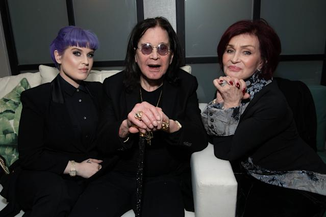 Kelly Osbourne, Ozzy Osbourne and Sharon Osbourne attend the after party for the special screening of Momentum Pictures' 'A Million Little Pieces' in December 2019 (Emma McIntyre/Getty Images)