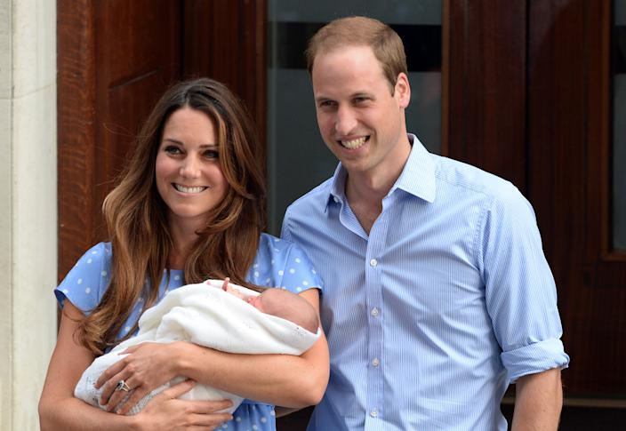 A newborn George made his debut to the world in July 2013. (Photo: PA)