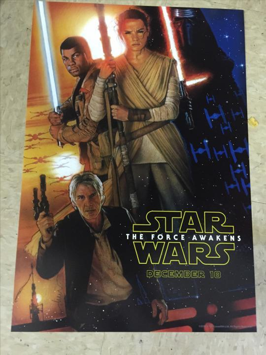 let s look for clues in that new star wars the force awakens poster