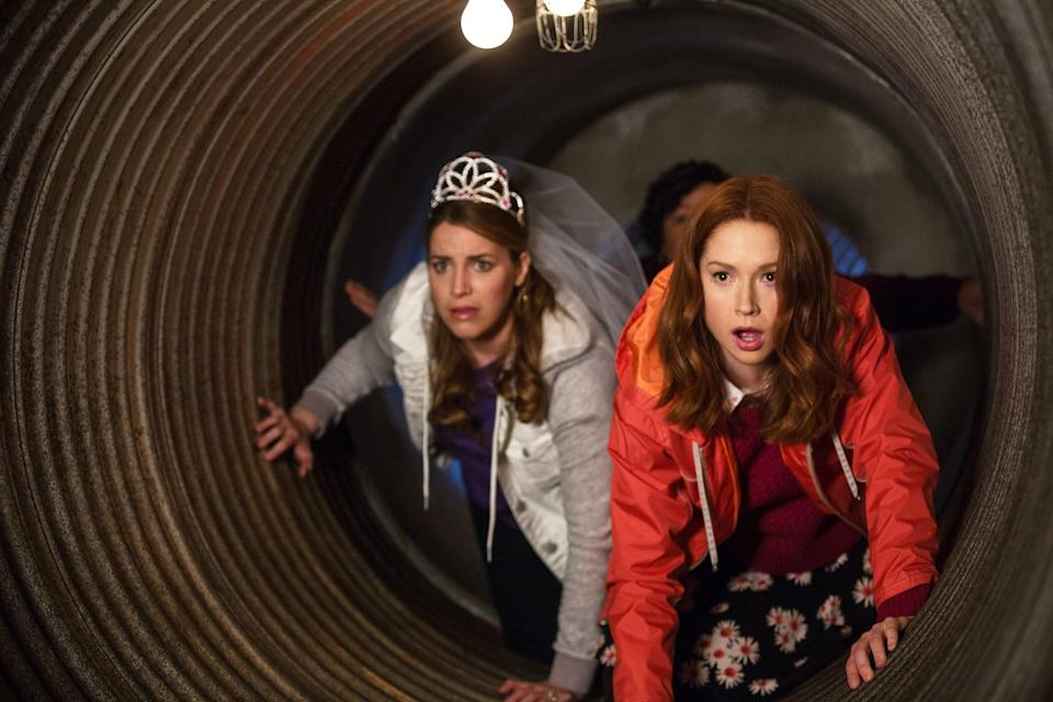 """<p>Despite its dark premise - Kimmy (Ellie Kemper) begins the show as an ex-mole woman who has been held captive in an underground bunker since she was a teen - <strong>Unbreakable Kimmy Schmidt</strong> is an uplifting show about the power of optimism and never giving up. Kimmy's journey of self-discovery can switch from hilarious to heartbreaking in the matter of a scene, but what makes this show so great is just how irrepressible Kimmy's belief in humanity is even after she's witnessed the very worst of it. </p> <p>Watch <a href=""""https://www.netflix.com/title/80025384"""" class=""""link rapid-noclick-resp"""" rel=""""nofollow noopener"""" target=""""_blank"""" data-ylk=""""slk:Unbreakable Kimmy Schmidt""""><strong>Unbreakable Kimmy Schmidt</strong></a> on Netflix now.</p>"""