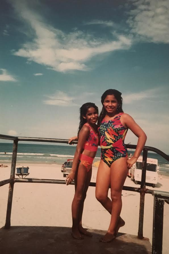 A day at the beach. Jessica Hoppe and her sister, Karla. (Photo courtesy of Jessica Hoppe)