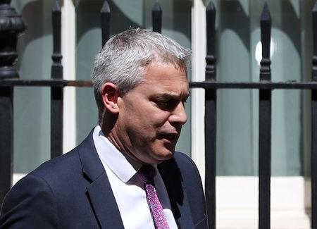 Britain's Secretary of State for Exiting the European Union Stephen Barclay is seen outside Downing Street, as uncertainty over Brexit continues, in London, Britain May 21, 2019. REUTERS/Hannah Mckay