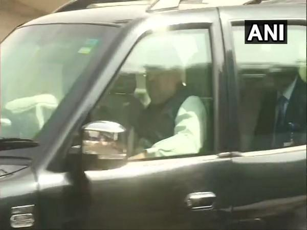 Union Home Minister Amit Shah arriving at Chennai airport on Sunday. [Photo/ANI]