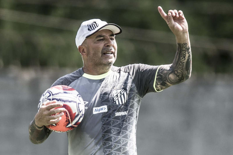 Sampaoli se despedirá do Santos no domingo, contra o Flamengo (Ivan Storti/Santos)