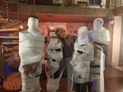 So excited to spend the day with these toilet paper mummies. Due to the pandemic, my family decided to do something different and create a fun video for all of you to watch. Hope you enjoy these behind the scenes images.