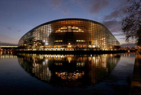 FILE PHOTO: The building of the European Parliament is seen in Strasbourg