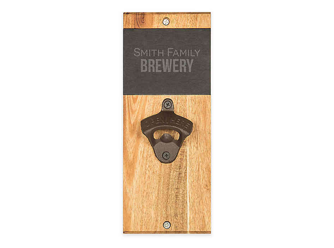 """<p>This is also a present for you, because you'll never have to answer '""""Where's the bottle opener?"""" ever again.</p> <p><a class=""""cta-button-link"""" href=""""https://www.bedbathandbeyond.com/store/product/cathy-39-s-concepts-acacia-wood-and-slate-wall-mount-bottle-opener/5010404?brandId=4942"""" target=""""_blank"""">BUY IT ($39)</a></p>"""
