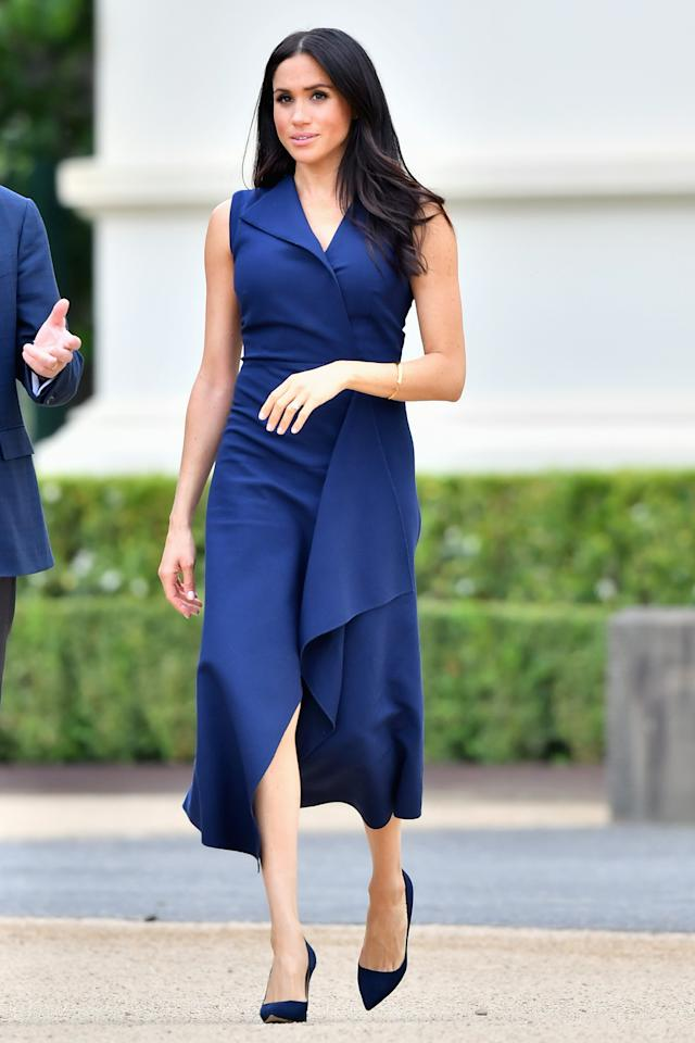 "<p>The ""folded sail"" dress is from their pre-fall 2019 collection and is valued at $1,290. Photo: Getty </p>"