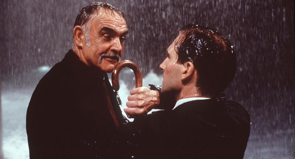 Sean Connery and Ralph Fiennes in 1998's The Avengers. (Getty Images)