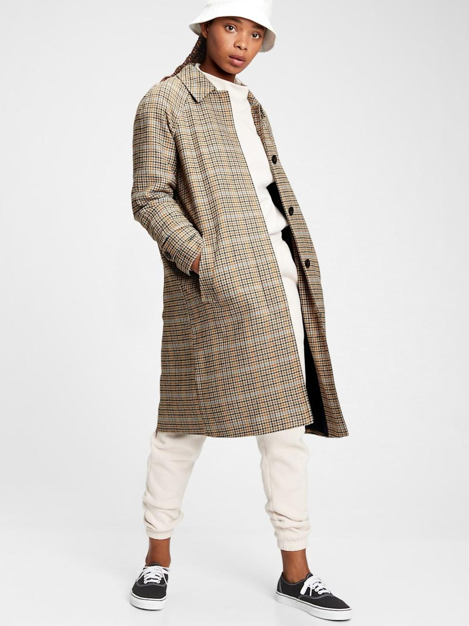 <p>This <span>Gap Plaid Wool Coat</span> ($124, originally $248) is a heritage statement piece at such a great deal!</p>