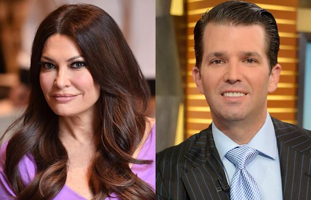 Donald Trump Jr. brought Kimberly Guilfoyle to the White House on Independence Day — and of course they spent time with the president. (Photos: Getty Images)