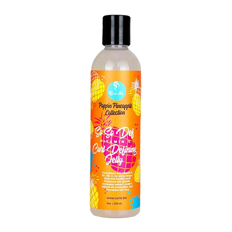 """<p>It's easy to mistake the ingredients in Curls' So So Def Vitamin C Curl Defining Jelly for your favorite <a href=""""https://www.allure.com/gallery/best-winter-moisturizers-face-creams?mbid=synd_yahoo_rss"""" rel=""""nofollow noopener"""" target=""""_blank"""" data-ylk=""""slk:face cream"""" class=""""link rapid-noclick-resp"""">face cream</a>. Laced with vitamins A, B, and C, this 2020 <em>Allure</em> <a href=""""https://www.allure.com/story/best-of-beauty-awards-2020?mbid=synd_yahoo_rss"""" rel=""""nofollow noopener"""" target=""""_blank"""" data-ylk=""""slk:Best of Beauty"""" class=""""link rapid-noclick-resp"""">Best of Beauty</a> winner introduces moisture into <a href=""""https://www.allure.com/story/moisturize-natural-hair-between-washes?mbid=synd_yahoo_rss"""" rel=""""nofollow noopener"""" target=""""_blank"""" data-ylk=""""slk:thirsty curls"""" class=""""link rapid-noclick-resp"""">thirsty curls</a> and keeps it there so that your coils spring to life and don't dry out.</p> <p><strong>$10</strong> (<a href=""""https://curls.biz/product/so-so-def-vitamin-c-curl-defining-jelly/"""" rel=""""nofollow noopener"""" target=""""_blank"""" data-ylk=""""slk:Shop Now"""" class=""""link rapid-noclick-resp"""">Shop Now</a>)</p>"""