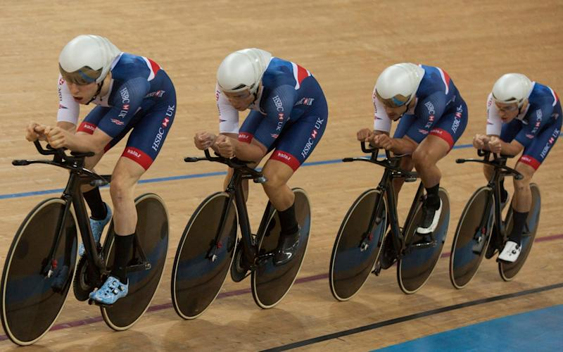 Men's team pursuit - British youngsters finding their feat at Track Cycling World Championships as Team Sky farrago rumbles - Credit:  EPA