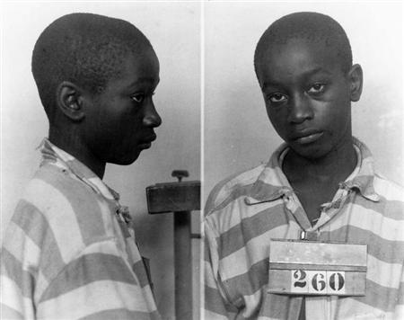 George Stinney Jr appears in an undated police booking photo provided by the South Carolina Department of Archives and History