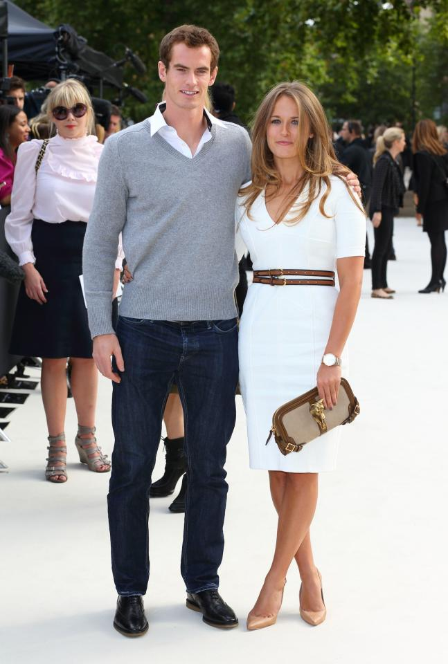 """<p class=""""MsoNormal""""><span>Fresh off his U.S. Open and Olympics tennis victories, Andy Murray (with Kim Sears) went to the Burberry Prorsum show. <br></span></p><p class=""""MsoNormal""""><span>(Photo by Mike Marsland/WireImage)</span></p>"""