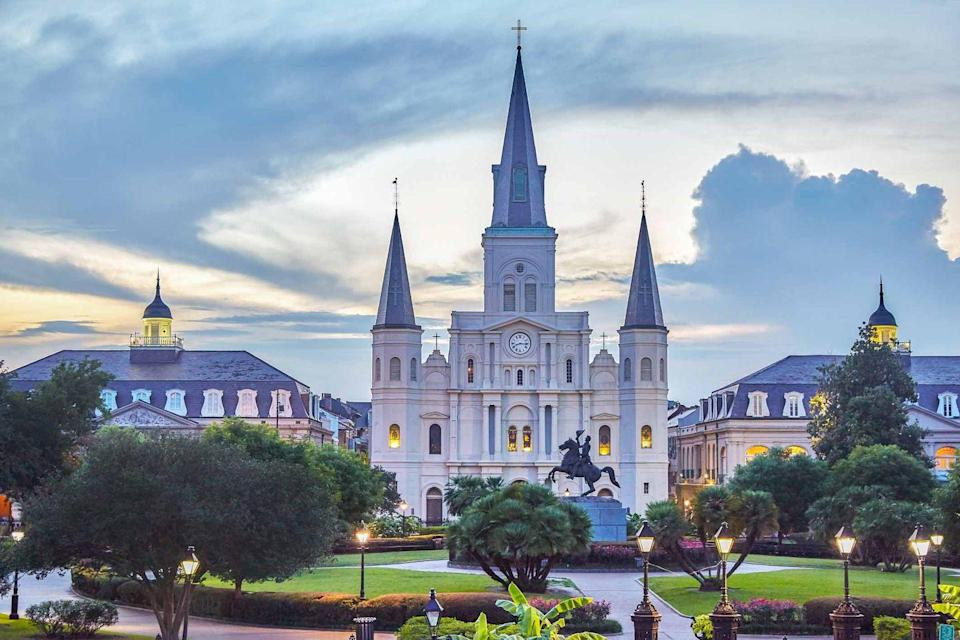 "<p>""I'm from Louisiana, so there's no doubt that the romance of the French Quarter, including Jackson Square and Saint Louis Cathedral, have left a lasting impression on me."" <em>—<a href=""http://www.michelsmithboyd.com/"" rel=""nofollow noopener"" target=""_blank"" data-ylk=""slk:Michel Smith Boyd"" class=""link rapid-noclick-resp"">Michel Smith Boyd</a></em></p>"