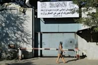 The Taliban on Friday appeared to shut down the former government's ministry of women's affairs and replaced it with one that earned notoriety during their first stint in power for enforcing religious doctrine (AFP/Hoshang Hashimi)