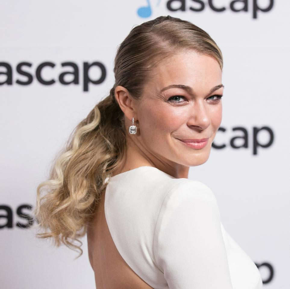 <p>Rimes looked fierce and fabulous with her textured pony and glowy complexion at the 34th Annual ASCAP Pop Music Awards. (Photo: Getty Images) </p>