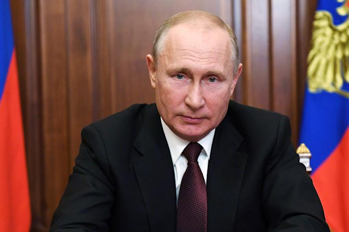 Russia's President Vladimir Putin delivers a televised address to the nation in Moscow, Russia June 23, 2020. Sputnik/Alexei Nikolsky/Kremlin via REUTERS