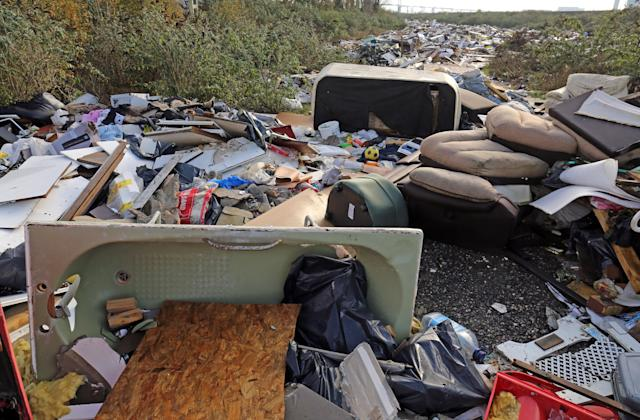 Councils in England had to clear up more than a million incidents of fly-tipping last year (PA)