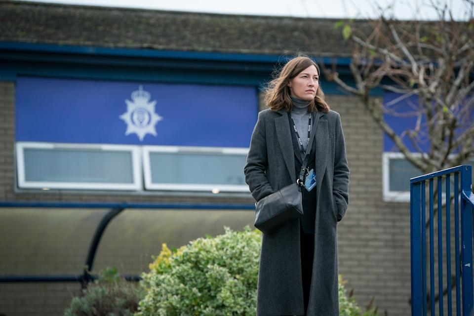 WARNING: Embargoed for publication until 00:00:01 on 06/04/2021 - Programme Name: Line of Duty S6 - TX: 11/04/2021 - Episode: Line Of Duty - Ep 4 (No. n/a) - Picture Shows:  DCI Joanne Davidson (KELLY MACDONALD) - (C) World Productions - Photographer: Steffan Hill