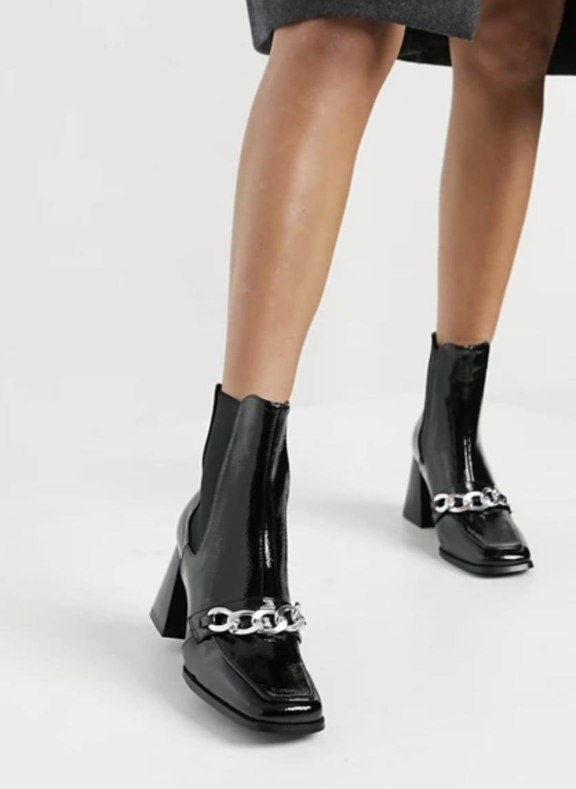 <p>The chain detail of these <span>ASOS RAID Shiloh Ankle Boots </span> ($64) add an irresistibly chic touch.</p>