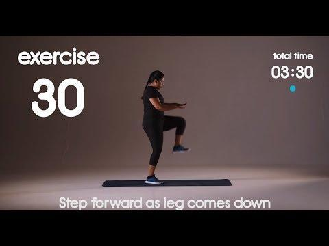 "<p>Dip a toe in <a href=""https://www.womenshealthmag.com/uk/fitness/running/g27125112/cardio-home-workouts/"" rel=""nofollow noopener"" target=""_blank"" data-ylk=""slk:cardio home workouts"" class=""link rapid-noclick-resp"">cardio home workouts</a> with this efficient five-minute beginners interval workout. You'll do 40-seconds work followed by 20 seconds rest, five times over. </p><p><strong>Equipment:</strong> None<strong><br></strong></p><p><a href=""https://www.youtube.com/watch?v=q2NZyW5EP5A"" rel=""nofollow noopener"" target=""_blank"" data-ylk=""slk:See the original post on Youtube"" class=""link rapid-noclick-resp"">See the original post on Youtube</a></p>"