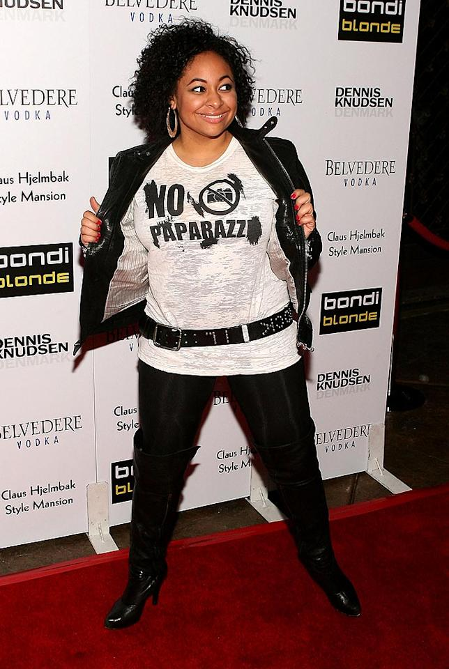 "Unfortunately, ""that's so Raven."" Jesse Grant/<a href=""http://www.wireimage.com"" target=""new"">WireImage.com</a> - February 9, 2009"
