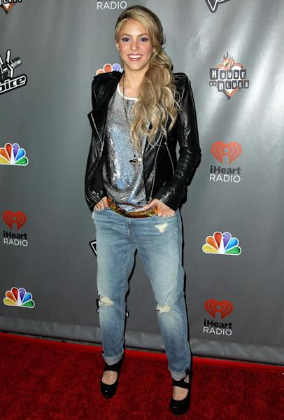 "FILE - In this May 8, 2013 file photo, Shakira arrives at ""The Voice"" season 4 red carpet event at the House of Blues, in Los Angeles. A judge in Geneva has rejected an application from Shakira's ex-boyfriend seeking rights to one of the singer's bank accounts. In documents obtained by The Associated Press dated June 17, a judge says that Shakira is the sole owner of the account. (Photo by Matt Sayles/Invision/AP, File)"